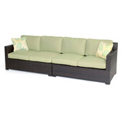 Hanover Metropolitan 2-Piece Loveseat Set, Avocado Green/French Roast