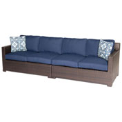 Hanover Metropolitan 2-Piece Loveseat Set, Navy Blue/French Roast