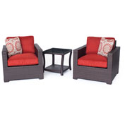 Hanover Metropolitan 3-Piece Chat Set, Autumn Berry/French Roast