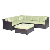 Hanover Metropolitan 5-Piece Lounge Set, Avocado Green/French Roast