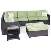 Hanover Metropolitan 6-Piece Lounge Set, Avocado Green/French Roast