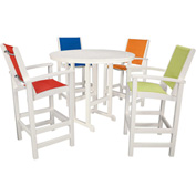 Hanover Nassau 5-Piece High Dining Set