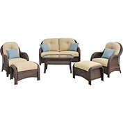 Newport 6-Piece Deep Seating Wicker Patio Set