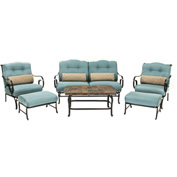 Hanover Oceana 6-Piece Outdoor Patio Set