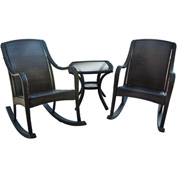 Hanover Orleans 3-Piece Rocking Patio Set