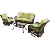 Hanover Orleans 4-Piece Outdoor Patio Set
