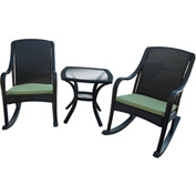 Hanover Orleans 5-Piece Rocking Patio Set