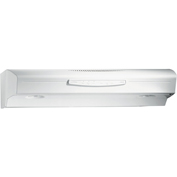 Broan QS230WW 30 Inch Convertible Range Hood, Variable Speed, Light, 300 CFM