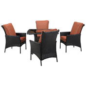 Hanover Strathmere Allure 5-Piece Dining Set, Woodland Rust