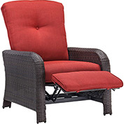 Strathmere Outdoor Reclining Lounge Chair, Crimson Red