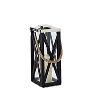 "Cambridge 20"" Driftwood Criss-Cross Frame Lantern"