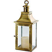 "Cambridge 24"" Traditions Outdoor Lantern, Antique Brass"