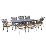 Hanover Traditions 9-Piece Dining Set, Natural Oat