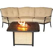 Traditions 2-Piece Outdoor Lounge Set w/ Cast-top Fire Pit Table