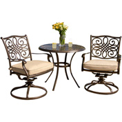 Hanover Traditions 3-Piece Outdoor Bistro Set