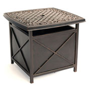 Hanover Traditions Cast-top Side Table & Umbrella Stand, Bronze