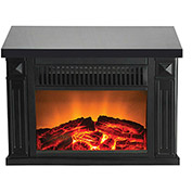 Warm House TZRF-10345 Zurich Tabletop Retro Electric Fireplace - Black