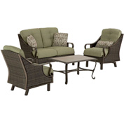 Hanover Ventura 4-Piece Outdoor Patio Set