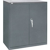 "ALB Plus Industrial Low Boy Storage Cabinet 8183642IC-33 - Charcoal 36""W x 18""D x 42""H"
