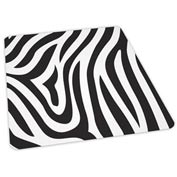 "Aleco® Office Chair Mat for Hard Floor - 36"" x 48"" - Zebra Design - Beveled Edge"
