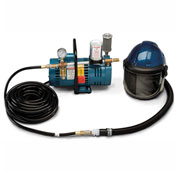 Allegro 9247-01 Deluxe Supplied Air Shield/Helmet System, 1 Worker, 50' Hose