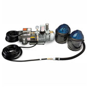 Allegro 9247-02 Deluxe Supplied Air Shield/Helmet System, 2 Worker, 50' Hose