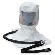 Allegro 9910 Tyvek™ Supplied Air Respirator Hood With OBAC Fitting, Belt, Clip & Suspension