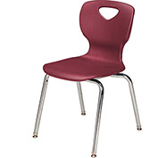 "Allied Plastics CHOICE™ Series Poly Stack Chair - 14"" - Burgundy - Pkg Qty 4"