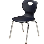 "Allied Plastics CHOICE™ Series Poly Stack Chair - 16"" - Black - Pkg Qty 4"