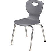"Allied Plastics CHOICE™ Series Poly Stack Chair - 18"" - Platinum - Pkg Qty 4"
