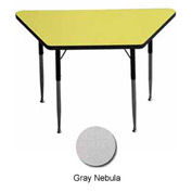 "Activity Table - Trapezoid - 24"" X 24"" X 48"", Standard Adj. Height, Gray Nebula"