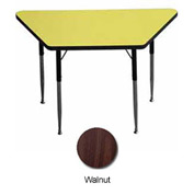 "Activity Table - Trapezoid - 24"" X 24"" X 48"", Juvenile Adj. Height, Walnut"