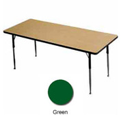 "Activity Table - Rectangle -  42"" X 60"",  Juvenile Adj. Height, Green"