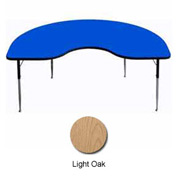 "Activity Table - Kidney - 48"" x 96"", Juvenile Adj. Height, Light Oak"