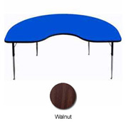 "Activity Table -  Kidney - 48"" x 96"" - Standard Adj. Height - Walnut"
