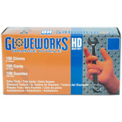 Ammex® Gloveworks Diamond Textured Industrial Grade Nitrile Gloves, 2XL, 100/Box, 10 Box/CS