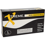 Ammex® Xtreme Powder-Free Industrial Grade Nitrile Gloves, XL, 100/Box, 10 Box/CS