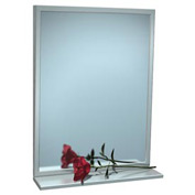 "ASI® Fixed Angle Tilt Mirror with Shelf - 18""Wx36""H - 0537-1836"