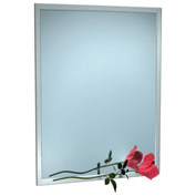"""ASI® Stainless Steel Angle Frame Mirror - 16""""Wx24""""H - 0600-1624"""