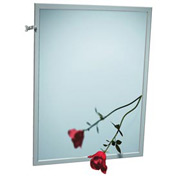 "ASI® Adjustable Tilt Stainless Steel Frame Mirror - 24""Wx36""H - 0600-T2436"