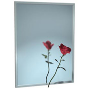 """ASI® Stainless Steel Channel Frame Mirror - 16""""Wx30""""H - 0620-1630"""