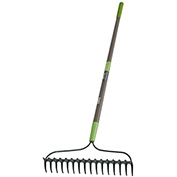Union 2433200 16-Tine Bow Rake w/ Fiberglass Handle