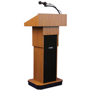 Executive Adjustable Height Podium / Lectern - Medium Oak