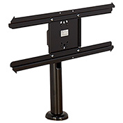 "AmpliVox Swivel Bolt Down Table Monitor Mount for 32"" to 55"" Screens - Black"