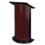 Jewel Mahogany Contemporary Curved Podium / Lectern