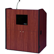 Multimedia Smart Podium - Mahogany