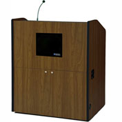 Multimedia Smart Podium - Walnut