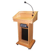 Wireless Victoria Solid Hardwood Podium / Lectern - Oak