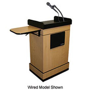 Wireless Multimedia Computer Podium / Lectern - Medium Oak