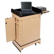Wireless Multimedia Computer Podium / Lectern - Maple